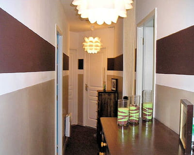 Tendance peinture couloir r solu - Idee deco entree couloir palier ...