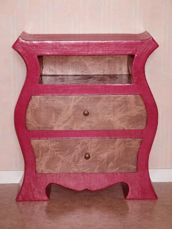 Quelle finition pour les meubles en carton loisirs for Finition meuble en carton