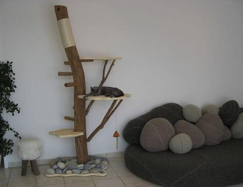 arbre a chat bois flotte. Black Bedroom Furniture Sets. Home Design Ideas