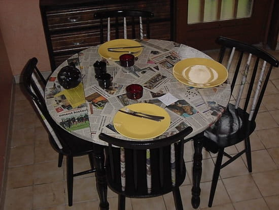Customiser une table en formica r solu - Customiser une table en bois ...