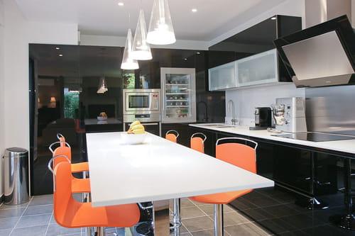 Cuisine Gris Perle Quelle Couleur Pour Sol Et Murs - Carrelage gris pour cuisine pour idees de deco de cuisine