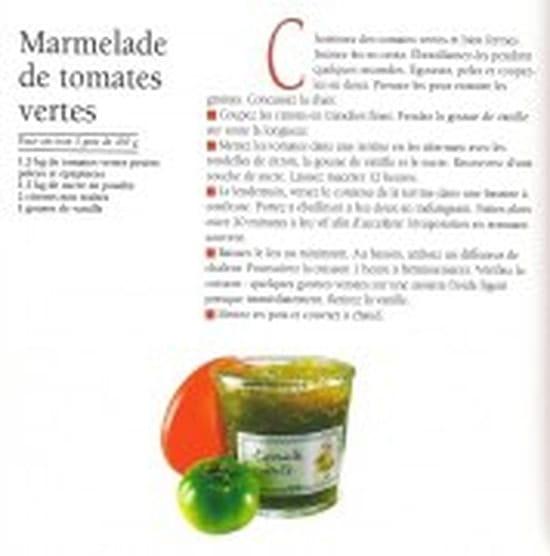 recette de la confiture de tomates vertes ? [résolu]