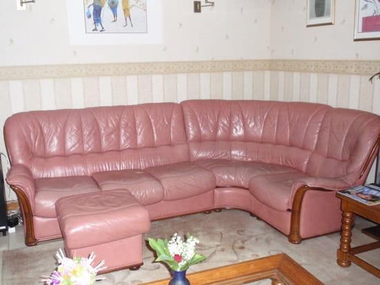 o trouver un canap rose en cuir r solu shopping et marques d co. Black Bedroom Furniture Sets. Home Design Ideas