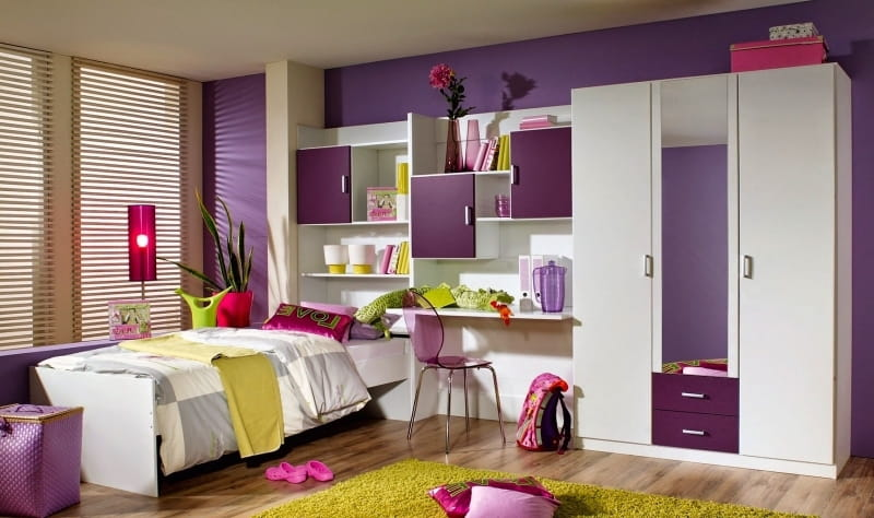 Bed With Bedroom Wardrobe